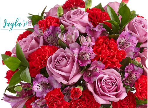 Jayla's Flowers Love is Blind Valentine's Bouquet